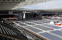 Pictured: Interior view of the stadium before the concert Saturday 18 June 2016<br /> Re: Lionel Richie, All The Hits concert at the Liberty Stadium, Swansea, Wales, UK