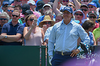 Phil Mickelson (USA) looks over his tee shot on 1 during round 1 of The Players Championship, TPC Sawgrass, at Ponte Vedra, Florida, USA. 5/10/2018.<br /> Picture: Golffile | Ken Murray<br /> <br /> <br /> All photo usage must carry mandatory copyright credit (&copy; Golffile | Ken Murray)