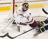 Joe Woll (BC - 31) - The visiting Merrimack College Warriors defeated the Boston College Eagles 6 - 3 (EN) on Friday, February 10, 2017, at Kelley Rink in Conte Forum in Chestnut Hill, Massachusetts.