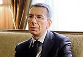Der lettische Außenminister Edgars Rinkevics.