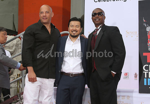 03 June 2015 - Hollywood, California - Vin Diesel, Justin Lin, MC Hammer. TCL Chinese Theatre IMAX 88th Birthday Hand Print Ceremony held at the at The TCL Chinese Theatre IMAX. Photo Credit: F. Sadou/AdMedia