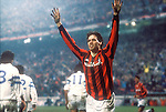 1994, Italy, Marco van BAsten scores for AC Milan. photo Michael Kooren