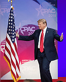 United States President Donald J. Trump arrives to speak at the Conservative Political Action Conference (CPAC) at the Gaylord National Resort and Convention Center in National Harbor, Maryland on Saturday, March 2, 2019.<br /> Credit: Ron Sachs / CNP <br /> (RESTRICTION: NO New York or New Jersey Newspapers or newspapers within a 75 mile radius of New York City)