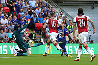 Victor Moses scores Chelsea's opening goal during Arsenal vs Chelsea, FA Community Shield Football at Wembley Stadium on 6th August 2017