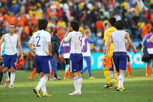 Shinji Okazaki (JPN), .JUNE 19, 2010 - Football : .2010 FIFA World Cup South Africa .Group Match -Group E- .between Netherlands 1-0 Japan .at Durban Stadium, Durban, South Africa. .
