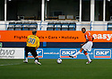 Matthew Barnes-Homer of Luton shoots but is denied by Simon Brown of Cambridge United during the Blue Square Bet Premier match between Luton Town and Cambridge United at Kenilworth Road, Luton  on 11th September 2010.© Kevin Coleman 2010