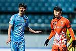 Jiangsu FC Defender Ji Xiang (L) fights for position with Jeju United FC Defender Cho Yonghyung (R) during the AFC Champions League 2017 Group H match between Jeju United FC (KOR) vs Jiangsu FC (CHN) at the Jeju World Cup Stadium on 22 February 2017 in Jeju, South Korea. Photo by Marcio Rodrigo Machado / Power Sport Images