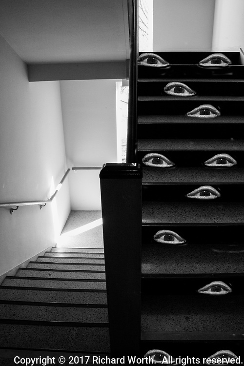 Flight of stairs.  Flight of stares.