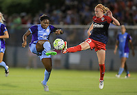 Boyds, MD - Saturday June 18, 2016: Victoria Huster during a regular season National Women's Soccer League (NWSL) match between the Washington Spirit and the Orlando Pride at Maureen Hendricks Field, Maryland SoccerPlex.