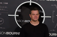 US actor Matt Damon  attends the photocall of 'Jason Bourne' in Madrid, Spain. July 13, 2016. (ALTERPHOTOS/Marcos Menendez) /NORTEPHOTO