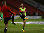 Billy Sharp of Sheffield Utd warms up during the League One match at Bramall Lane Stadium, Sheffield. Picture date: September 27th, 2016. Pic Simon Bellis/Sportimage