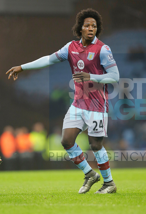 Carlos Sanchez of Aston Villa - Football - Barclays Premier League - Aston Villa vs Arsenal - Villa Park Birmingham - 13th December 2015 - Season 2015/2016 - Photo Malcolm Couzens/Sportimage