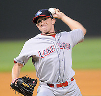 Sept. 18, 2009: Starting pitcher Korey Noles (28) of the Lakewood BlueClaws picked up the win in Game 4 of the South Atlantic League Championship Series at Fluor Field at the West End in Greenville, S.C. Lakewood won the game 5-1 and the series 3 games to 1. Photo by: Tom Priddy/Four Seam Images
