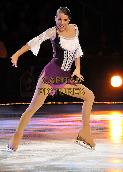 ALISSA CZISNY.McDonald's Family Tribute on Ice - Performance at the USC Galen Center, Los Angeles, California, USA..October 3rd, 2008.full length figure skating sport skates purple white dress.CAP/ADM/BP.©Byron Purvis/AdMedia/Capital Pictures.
