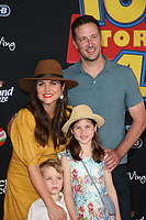 "LOS ANGELES, CALIFORNIA - JUNE 11:  Tiffany Amber Thiessen attends the premiere of Disney and Pixar's ""Toy Story 4"" on June 11, 2019 in Los Angeles, California. <br /> CAP/MPIFS<br /> ©MPIFS/Capital Pictures"