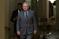United States Senate Majority Leader Mitch McConnell (Republican of Kentucky) leaves his office to depart the United States Capitol in Washington D.C., U.S., on Thursday, January 9, 2020.<br /> <br /> Credit: Stefani Reynolds / CNP/AdMedia