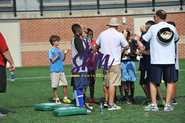 Ed Reed held the first day of his football camp at Mustang Stadium at Stevenson University in Owings Mills on Monday.Ed Reed held the first day of his football camp at Mustang Stadium at Stevenson University in Owings Mills on Monday.