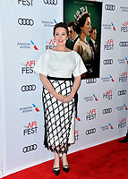 """LOS ANGELES, USA. November 17, 2019: Olivia Colman at the gala screening for """"The Crown"""" as part of the AFI Fest 2019 at the TCL Chinese Theatre.<br /> Picture: Paul Smith/Featureflash"""