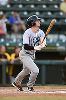 Jupiter Hammerheads third baseman Colin Moran (18) at bat during a game against the Bradenton Marauders on June 25, 2014 at McKechnie Field in Bradenton, Florida.  Bradenton defeated Jupiter 11-0.  (Mike Janes/Four Seam Images)