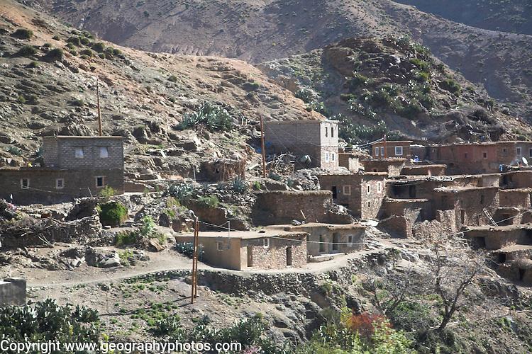 Berber village Atlas Mountains Morocco north Africa