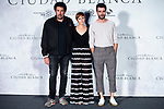 Director Daniel Calparsoro, actress Aura Garrido and actor Javier Rey attends presentation of 'El silencio de la Ciudad Blanca' during FestVal in Vitoria, Spain. September 05, 2018. (ALTERPHOTOS/Borja B.Hojas)