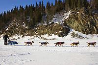 Ryan Redington on the Yukon river shortly before the Anvik checkpoint