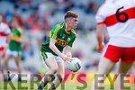 Jack Griffin Kerry in action against  Derry in the All-Ireland Minor Footballl Final in Croke Park on Sunday.