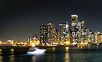 Chicago scenes:  The Chicago skyline as seen from the Navy Pier, Streeterville neighborhood in Chicago, Il. (Photo by Jamie Moncrief)