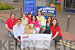 PET: The Petmania Announced on Friday at their store in Manor West Retail Park, Tralee that they were presenting a cheque of EUR2,797 to the Carers Association the money was raised by people going on a charity walk with their pets also the Top dog on the sponership trail was presented with a years supply of nutrition partners Royal Canin dog food. Front l-r:Karen Gearon(carers association) and Linda Cavanagh (petmania). Back l-r: Luke Sutton(petmania), Sheila and Anna Sheehan ( Tubby the Dog winner of the years supply of Royal Canin),Eileen Lynn (Groomer), Bernie O'Sullivan and margerite Treacy (Royal Canin Business Manager)................................... ....