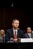 Twitter Acting General Counsel Sean Edgett testifies before the United States Senate Intelligence Committee during a hearing to examine social media influence in the 2016 United States elections on Capitol Hill in Washington, D.C. on November 1st, 2017. <br /> Credit: Alex Edelman / CNP /MediaPunch