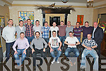 REUNION; The reunion of 1998 nDynmos soccer team met up at the abbey Gate Hotel, Tralee on Sunday night. Front l-r: mRoy Lacey, Jared Browne, Maurice Rahilly, Derek OBrien and Gary maher. Back l-r: Michael Hogan, Damien Diggins, Eoin Cassidy, Shane Mcmahon, Alan OConnor, Gary maher, Jonathon Burrows, Kevin McCannon, Padraig McCannon, Billy Stack and Brian McCarthy (manager). ..