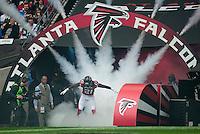 26.10.2014.  London, England.  NFL International Series. Atlanta Falcons versus Detroit Lions.  Falcons' CB Desmond Trufant [21] makes his entrance to the Stadium.