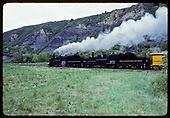D&amp;RGW #476 and #473 double heading the Silverton train in Durango area.<br /> D&amp;S  Durango, CO