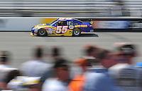 May 2, 2008; Richmond, VA, USA; NASCAR Sprint Cup Series driver Michael Waltrip during practice for the Dan Lowry 400 at the Richmond International Raceway. Mandatory Credit: Mark J. Rebilas-