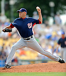 12 March 2008: Washington Nationals' pitcher Charlie Manning on the mound during a Spring Training game against the Los Angeles Dodgers at Holman Stadium, in Vero Beach, Florida. The Nationals defeated the Dodgers 10-4 at the historic Dodgertown ballpark. 2008 marks the final season of Spring Training at Dodgertown for the Dodgers, as the team will move to new training facilities in Arizona starting in 2009 after 60 years in Florida...Mandatory Photo Credit: Ed Wolfstein Photo