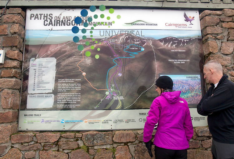 The Cairngorm Mountain National Park, Cairngorm Mountain Ranger Service is continuing to advise walkers and climbers.<br /> Picture: Universal News And Sport (Europe) 16 October  2014.