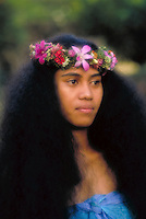 Portrait of a Hawaiian hula dancer