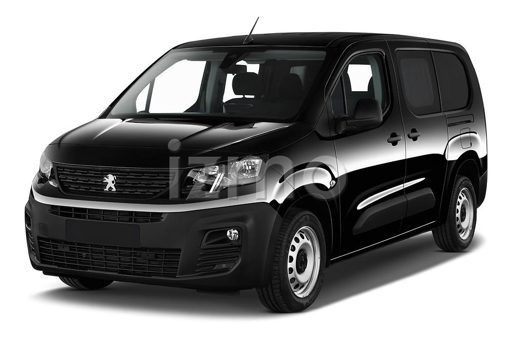 2020 Peugeot Partner Premium Long 4 Door Car van angular front stock photos of front three quarter view