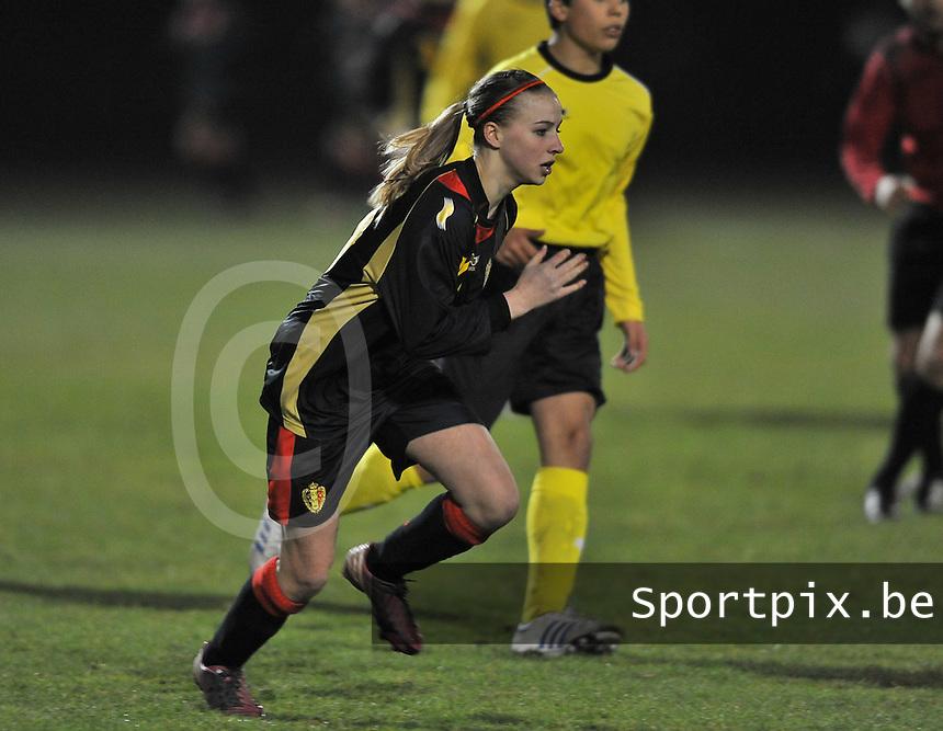 Belgium Dames U19 - selectie brabant jongens U15 :  Jackie Groenen.foto DAVID CATRY / Vrouwenteam.be