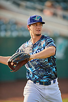 James Outman (47) of the Ogden Raptors before the game against the Orem Owlz at Lindquist Field on August 3, 2018 in Ogden, Utah. The Raptors defeated the Owlz 9-4. (Stephen Smith/Four Seam Images)