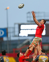 29th February 2020; Thomond Park, Limerick, Munster, Ireland; Guinness Pro 14 Rugby, Munster versus Scarlets; Arno Botha of Munster collects the line out ball