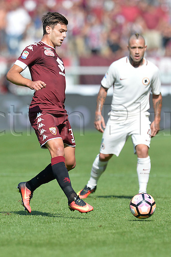 25.09.2016. Stadio Olimpico Grande Torino, Turin, Italy. Serie A Football. Torino versus Roma. Lucas Boye on the ball