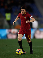 Calcio, Serie A: AS Roma - Benevento, Roma, stadio Olimpico, 11 gennaio 2018.<br /> Roma's Alessandro Florenzi in action during the Italian Serie A football match between AS Roma and Benevento at Rome's Olympic stadium, February 11, 2018.<br /> UPDATE IMAGES PRESS/Isabella Bonotto