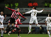 Pictured: Ashley Williams of Swansea City in action<br />