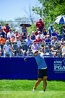 Amy Yang (KOR) watches her tee shot on 1 during Sunday's final round of the 2017 KPMG Women's PGA Championship, at Olympia Fields Country Club, Olympia Fields, Illinois. 7/2/2017.<br /> Picture: Golffile | Ken Murray<br /> <br /> <br /> All photo usage must carry mandatory copyright credit (&copy; Golffile | Ken Murray)