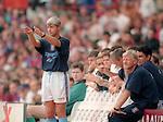 Brian Little manager of Aston Villa - Barclays Premier League - Aston Villa v Manchester Utd - Villa Park Stadium - Birmingham - England - 19th August 1995 - Picture Sportimage