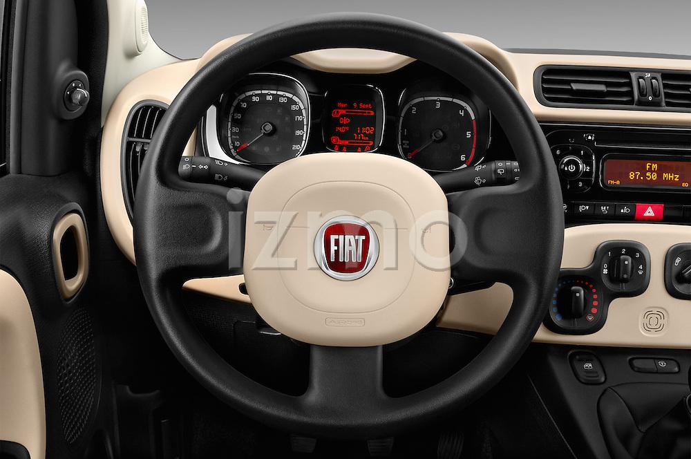 Car pictures of steering wheel view of a 2016 Fiat Panda-4X4 Pop 5 Door Hatchback Steering Wheel