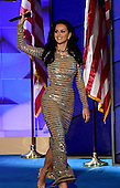 Katy Perry gives a musical performance during the fourth session of the 2016 Democratic National Convention at the Wells Fargo Center in Philadelphia, Pennsylvania on Thursday, July 28, 2016.<br /> Credit: Ron Sachs / CNP<br /> (RESTRICTION: NO New York or New Jersey Newspapers or newspapers within a 75 mile radius of New York City)