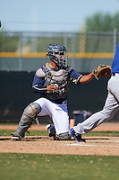 San Diego Padres Ricardo Rodriguez (55) during an instructional league game against the Texas Rangers on October 9, 2015 at the Surprise Stadium Training Complex in Surprise, Arizona.  (Mike Janes/Four Seam Images)