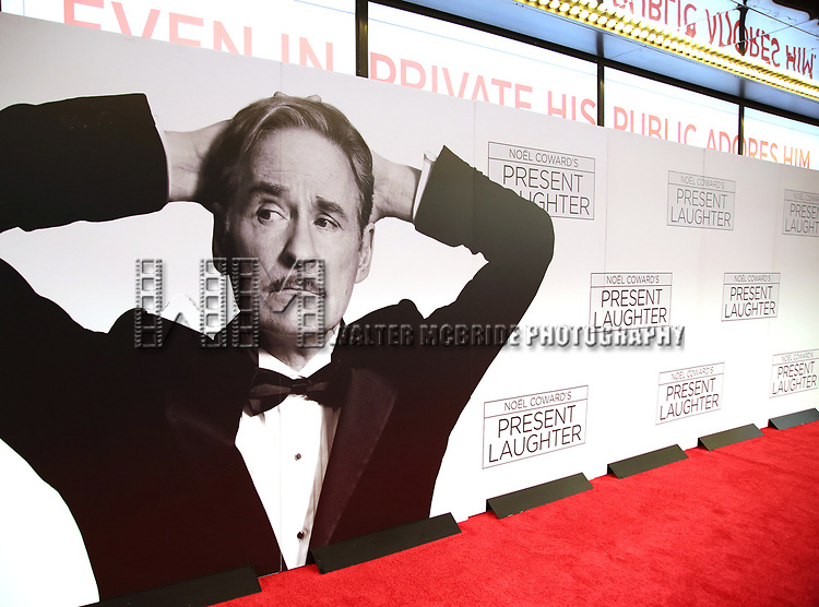 Atmpoosphere at the Broadway Opening Night Performance of 'Present Laughter' at St. James Theatreon April 5, 2017 in New York City